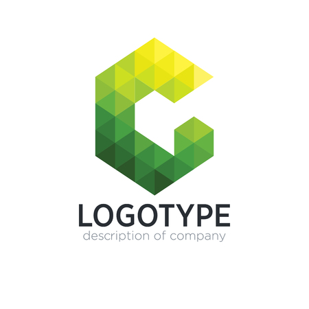 Abstract trend polygon letter G logo design template.