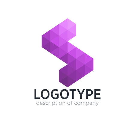 Abstract trend polygon letter S logo design template.