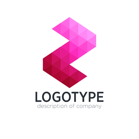 Abstract trend polygon letter Z logo design template. 矢量图像
