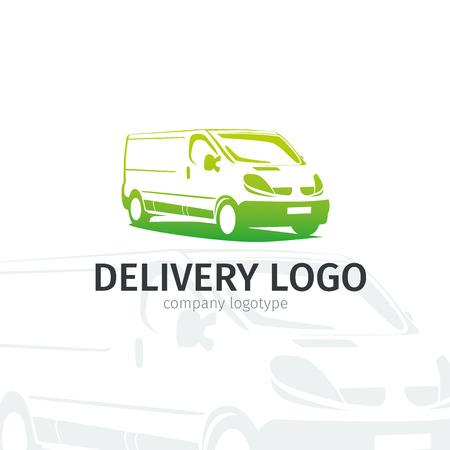 Reparación de automóviles o la etiqueta de servicio de entrega. Plantilla del diseño de la insignia del vector. Concepto para el servicio de reparación del automóvil, almacén de piezas de repuesto. Ilustración de vector