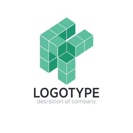 Letter K cube figure logo icon design template elements
