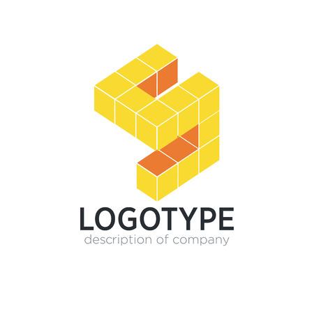 Letter S cube figure logo icon design template elements 矢量图像