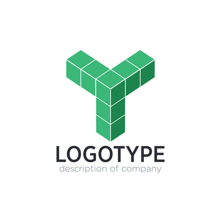 Letter Y cube figure logo icon design template elements