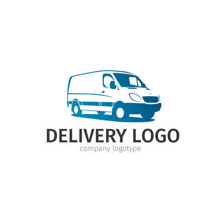 Car repair or delivery service label. Vector logo design template. Concept for automobile repair service, spare parts store.
