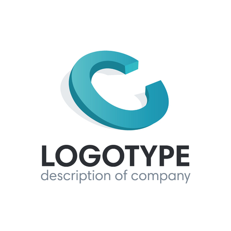 Letter C logo icon design template elements 矢量图像