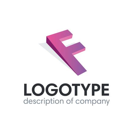 Letter F logo icon design template elements illustration. 矢量图像