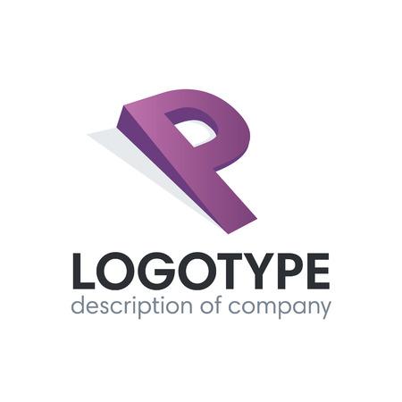 Letter P logo icon design template elements 矢量图像