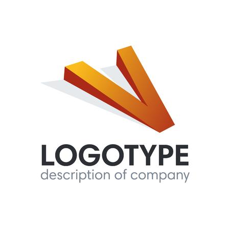 Letter V logo icon design template elements Illustration