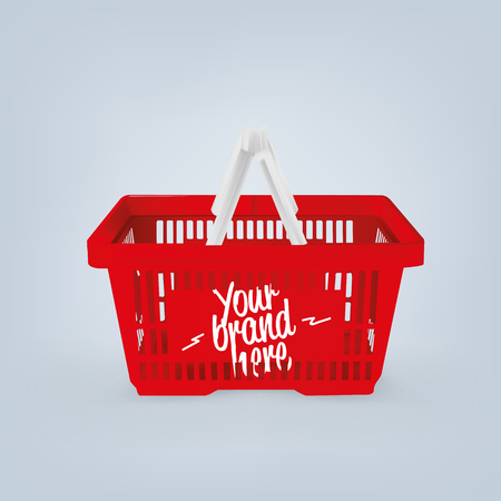 Realistic image of empty plastic supermarket