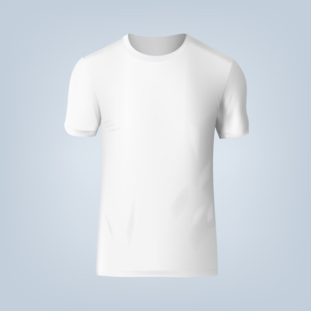 Vector illustration of blank t-shirt template, front design isolated