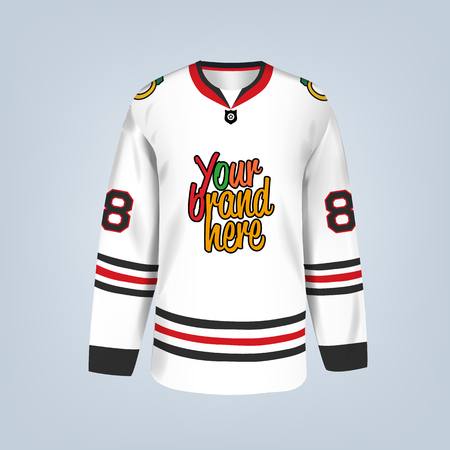 Vector illustration of hockey team jersey template 일러스트