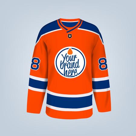 Vector illustration of hockey team jersey template Illustration