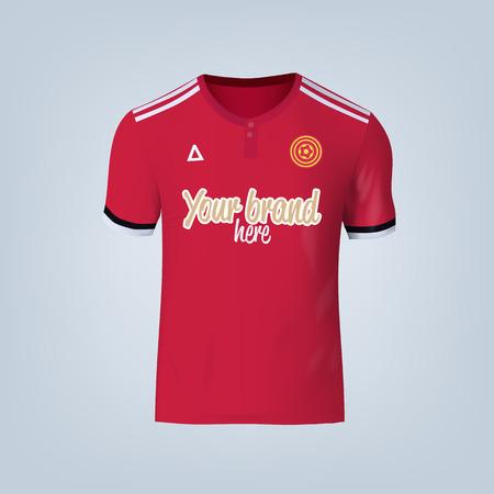 Vector illustration of football t-shirt template. 矢量图像