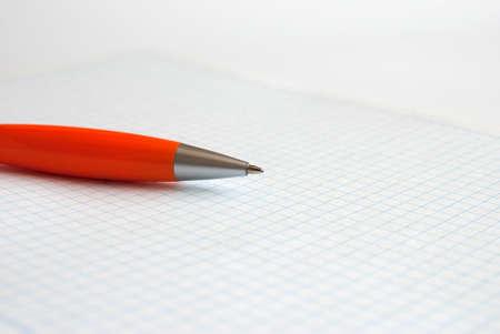 pen on notebook Stock Photo - 14605086