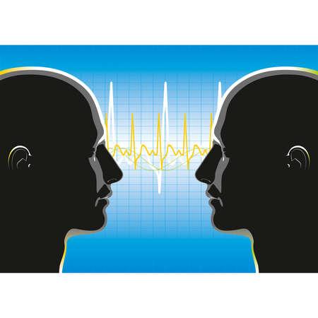 The relationship between two people  Vector