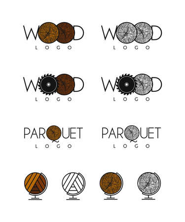 Wood and parquet logos