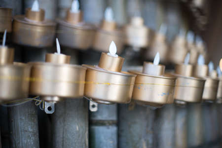 Silver Tea Lamp at a Malay Village Wooden House Stock Photo