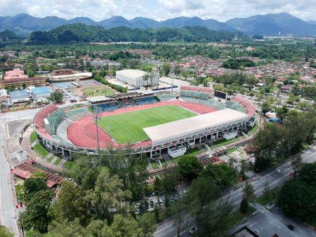 Aerial Photo - Birds eye view of the Stadium of Ipoh, Perak, Malaysia.