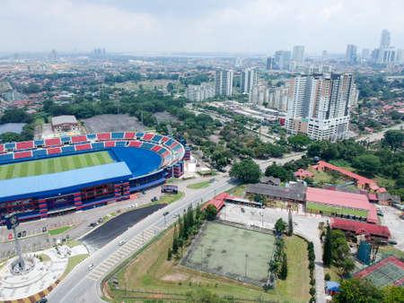 공중 사진 - Tan Sri Dato의 새의 눈 (Hajan Hassan Yunos Stadium)은 Larkin Stadium으로도 알려져 있으며, 말레이시아의 조호 바루 조호 바루 (Johor Bahru) 라킨 (Larkin)의