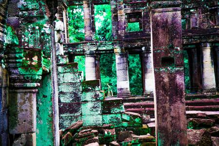 Angkor Wat Ruins Stockfoto