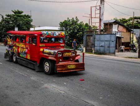 Jeepney in Manila Stock Photo - 87824137