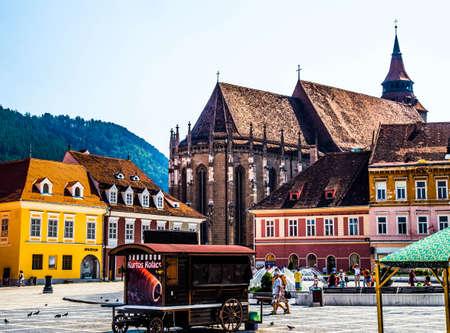 Black Church in Brasov Romania Reklamní fotografie