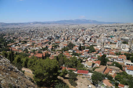 View of the city of Athens, Greece