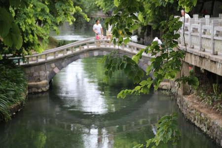 Chinese Bridge in Guilin, China Stock Photo