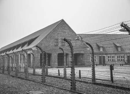 Campo di concentramento tedesco in Polonia Archivio Fotografico - 99493164