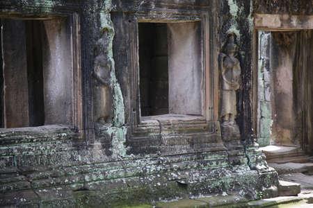 Ruins of Angkor Wat in Cambodia Фото со стока