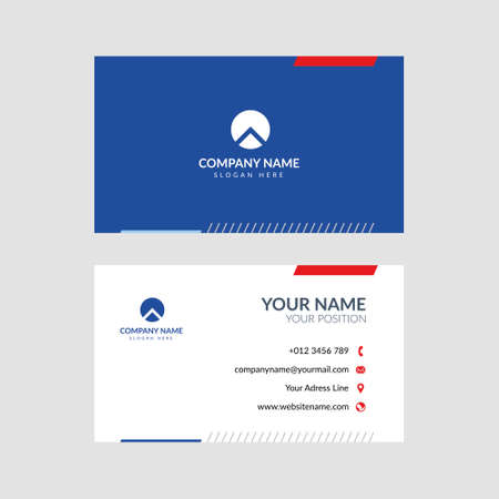 Professional modern business card vector design. Editable and perfect for many kinds of company, foundation, etc.