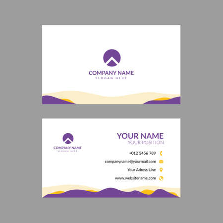 Professional modern business card vector design. Editable and perfect for many kinds of company, foundation, etc. 일러스트