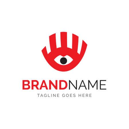 hand and eye, vector design, fully editable