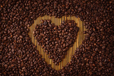Coffee Heart Shape photo