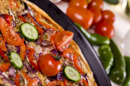 Pizza close-up photo