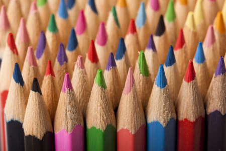 Colored Pencils Macro Background photo