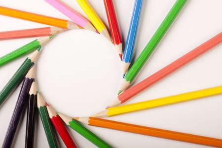 Colored Pencils Circle photo