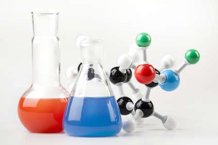 2 Flaska und molekulare Chain  Standard-Bild
