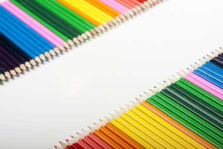 Colored Pencils Border Stock Photo - 6126912
