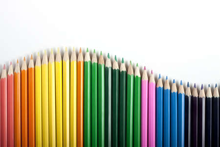 Colored Pencils Wave Stock Photo - 6126916