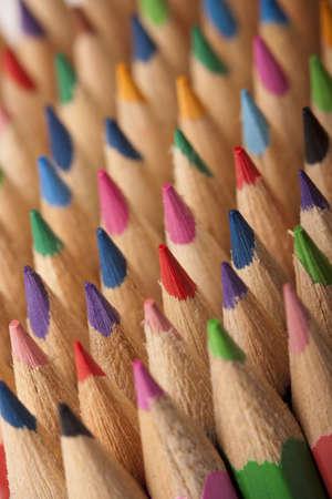 Colored Pencils Macro Background! photo