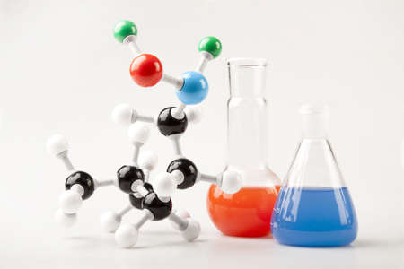 Vials and Molecular Chain Stock Photo - 6126918