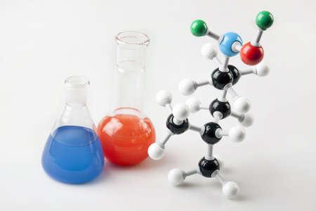 Vials and Molecular Chain Stock Photo - 6126907
