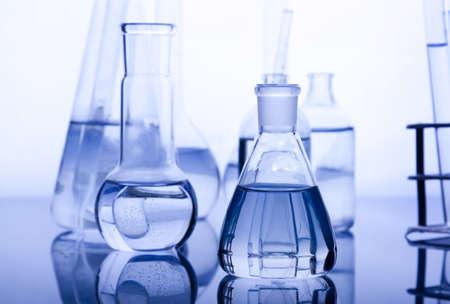 microbiologia: Vasos de Labolatory Foto de archivo