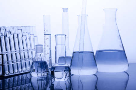 presentational: Labolatory Glassware Stock Photo