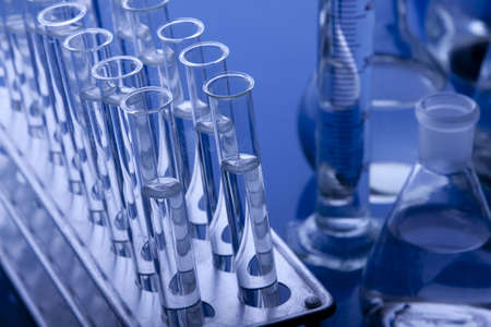 Labolatory 유리 병 및 기타 장비