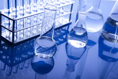 Labolatory Glassware Stock Photo