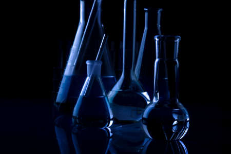 Labolatory Dark Glassware Stock Photo - 13630359