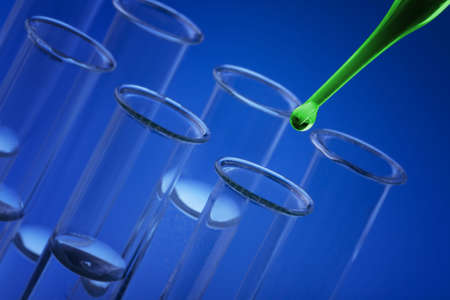 Pipette and Lab Tubes Stock Photo - 6187998
