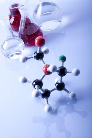 Atoms and Laboratory Glassware photo